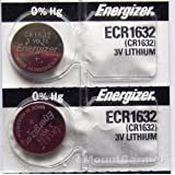 Energizer CR1632 Lithium Battery 3V (2 Batteries per pack)