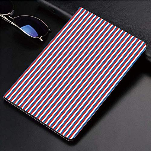 "Compatible with 3D Printed iPad 9.7 Case,Harbour Stripe,Vertical Patriotic Colorful Contrast Toned AME,Lightweight Anti-Scratch Shell Auto Sleep/Wake, Back Protector Cover iPad 9.7"" 5th/6th/air/air 2"