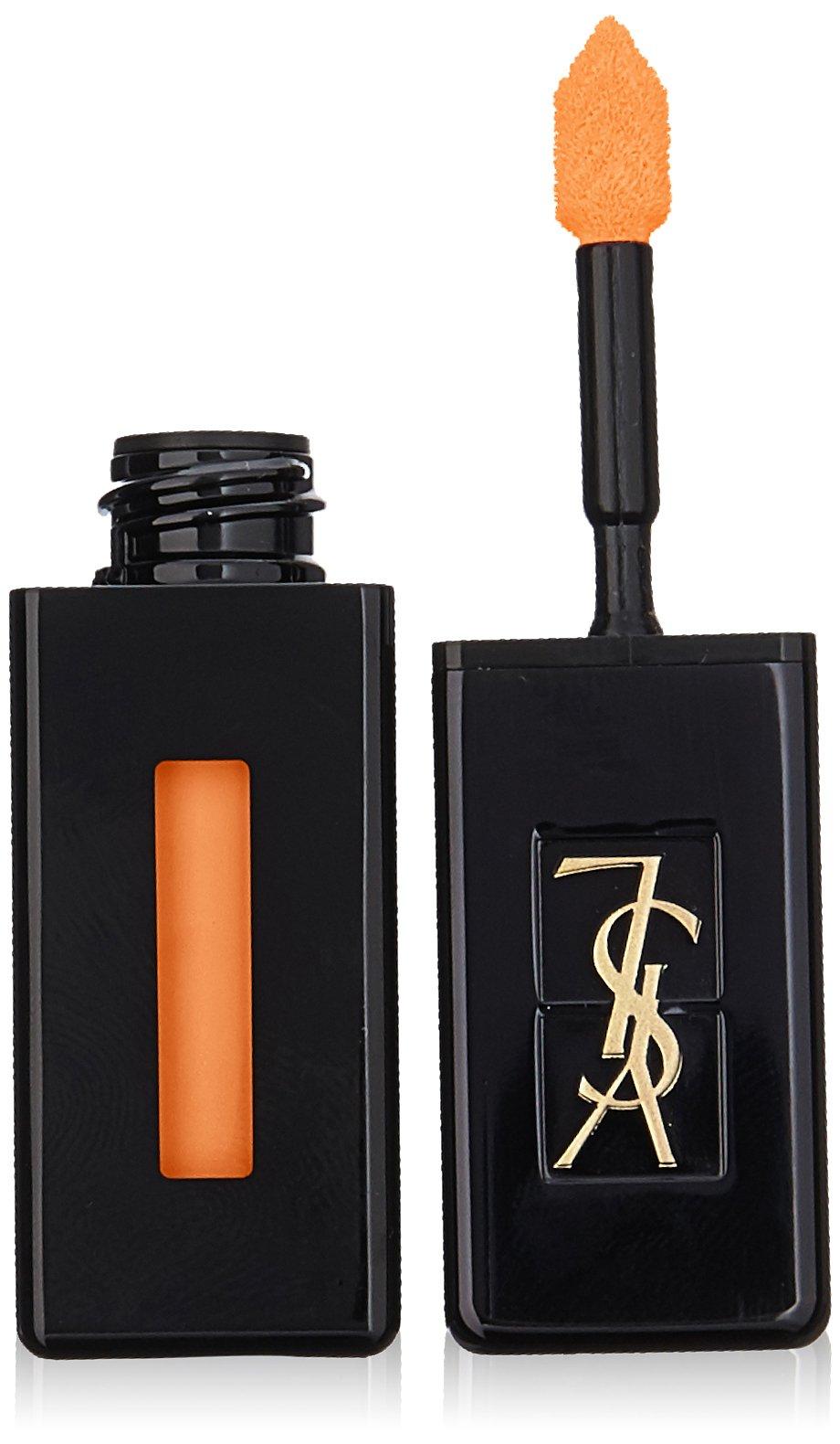 Yves Saint Laurent Vernis A Levres Vinyl Cream Lip Stain, 408 Corail Neo-pop, 0.18 Ounce by Yves Saint Laurent