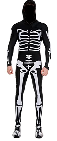 Aimerfeel hombres spooky traje de Halloween de impresión ...