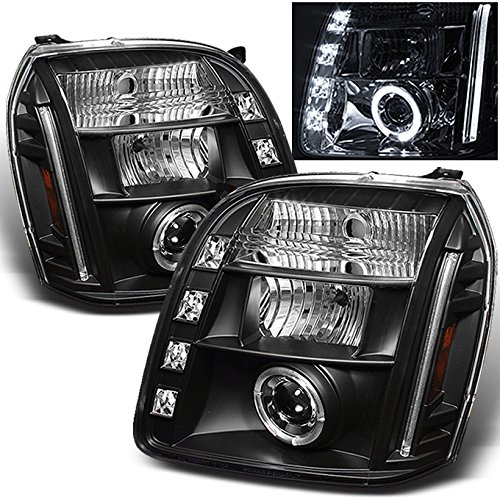 - For GMC Yukon Denali SUV Black Bezel Dual Halo LED Projector Headlights Front Lamps Replacement Pair