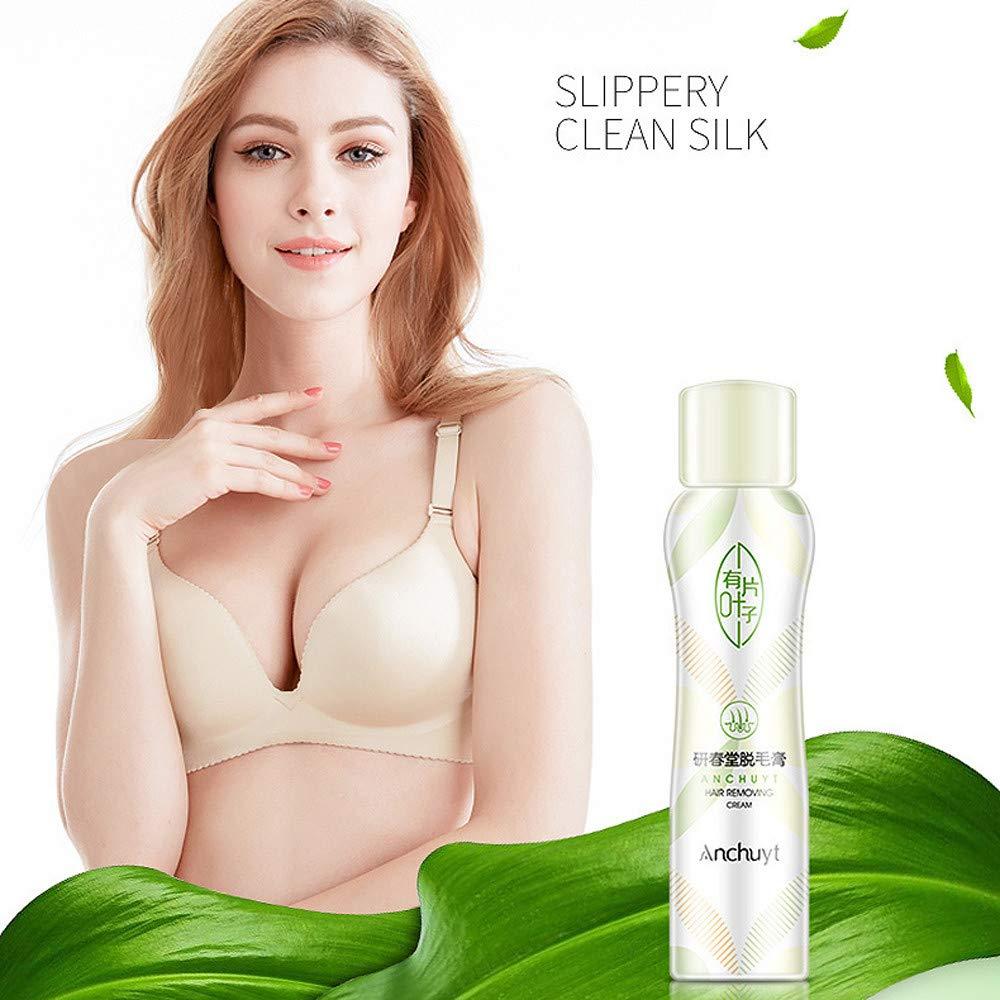 Depilatories Spray Foam Mousse,QHJ No Damage,No Pain,Anti allergic,Depilatories For Both Women And Men (White)