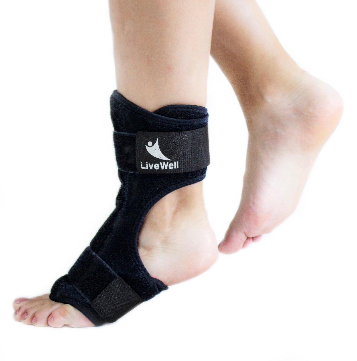 Live Well Plantar Fasciitis Night Split Foot Brace Ankle Brace