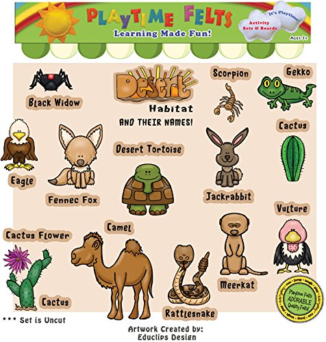 (Playtime Felts Desert Habitat Story Set for Flannel Board)