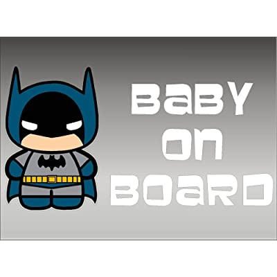 Batman Baby on Board/DC Comics Vinyl Vehicle Kids Window Graphic Decal Sticker: Automotive
