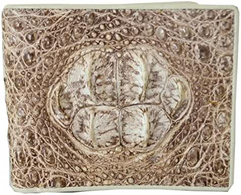 Authentic M Crocodile Skin Men's Bifold Big Head Leather Wallet