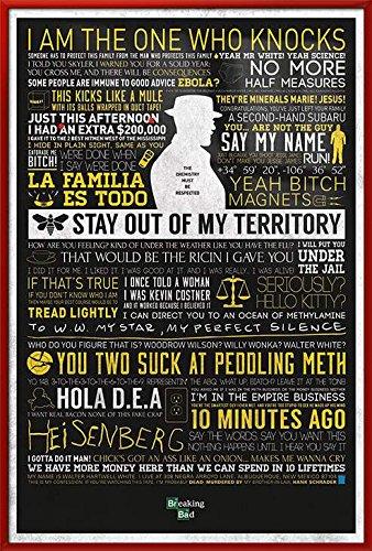 Amazon.com: Breaking Bad - Framed TV Show Poster (Typographic ...
