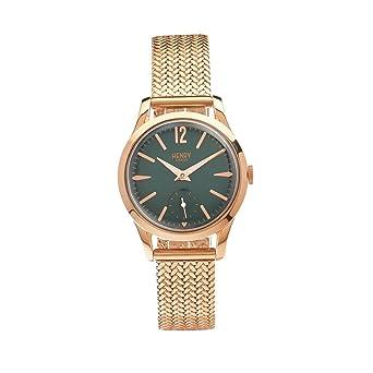 Henry de Londres Unisex Reloj de pulsera Stratford analógico de cuarzo Acero inoxidable HL3075CW de para