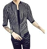 MK988 Men's Sunscreen Stripe Casual Long Sleeve Lightweight Jacket Jean Coat