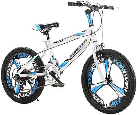 20 pulgadas Niños Bicicleta de montaña Bicicleta de montaña al aire libre Niños Bicicleta de velocidad variable Adecuado Niños y niñas Bicicleta Niños Viajes Bicicleta Niño y niña-20 pulgadas_Azul: Amazon.es: Deportes y