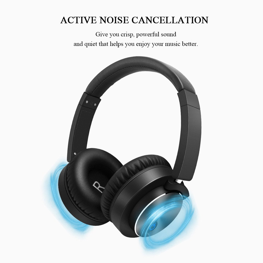 Amazon.com: Active Noise Cancelling Headphones Bluetooth Wireless Headsets Built in Microphone HiFi Stereo Over Ear Portable Foldable Comfortable Leather ...