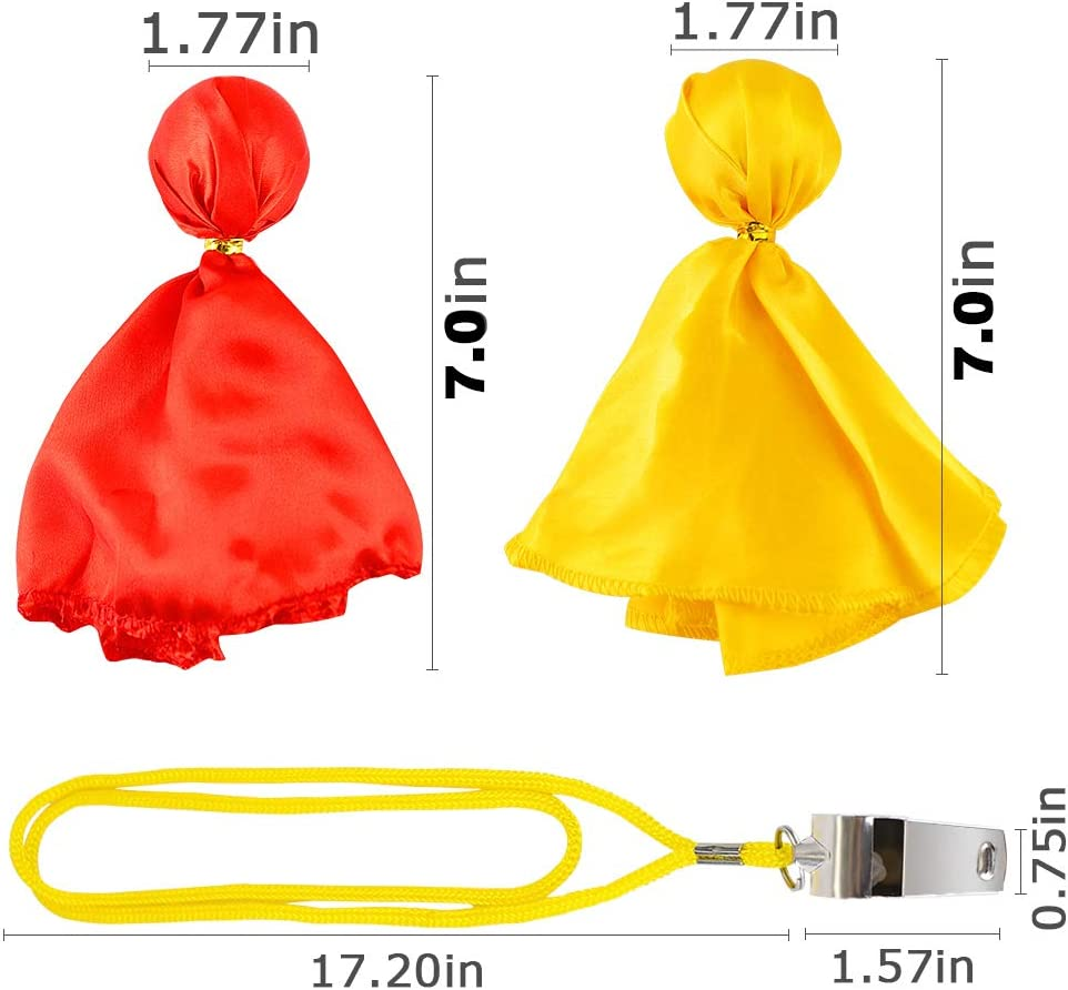 Sports Fan Set Penalty Flag Referee Costume Decorations HangerSpace Penalty Flag with a Whistle Party Accessories