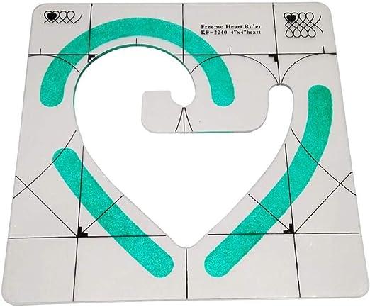 3-teilig Herz-Lineal Patchwork-Quilt-Vorlagen-Set SovelyBoFan Rutschfestes Quilt-Lineal Bogen-Lineal