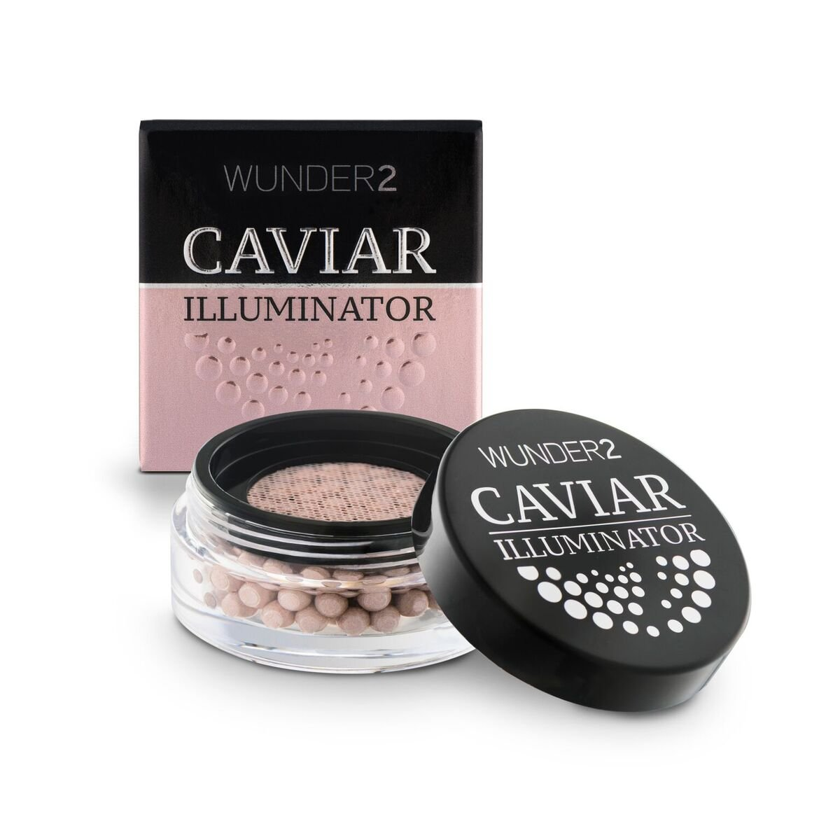 WUNDER2 CAVIAR ILLUMINATOR - Cream Highlighter Makeup For Glowy Skin, Mother of Pearl Color