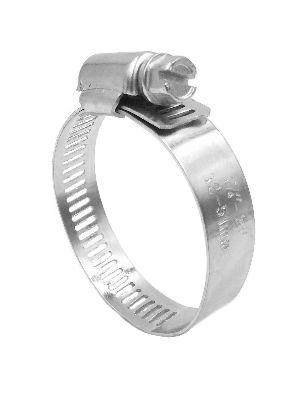 BRUFER 100217 Galvanized Steel Hose Clamps 2''-inch for Pipe Worm Gear Plumbing Automotive - Bulk Pack of 50 Clamps by BRUFER Quality Products