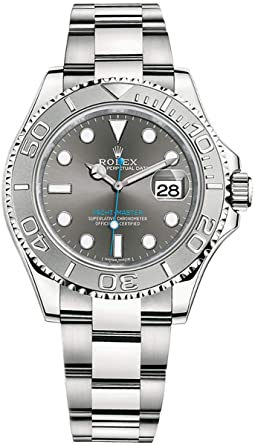 74f8af649b5 Image Unavailable. Image not available for. Color  Rolex Dark Rhodium Dial  40 mm Mens Watch - Yacht-Master 40 116622