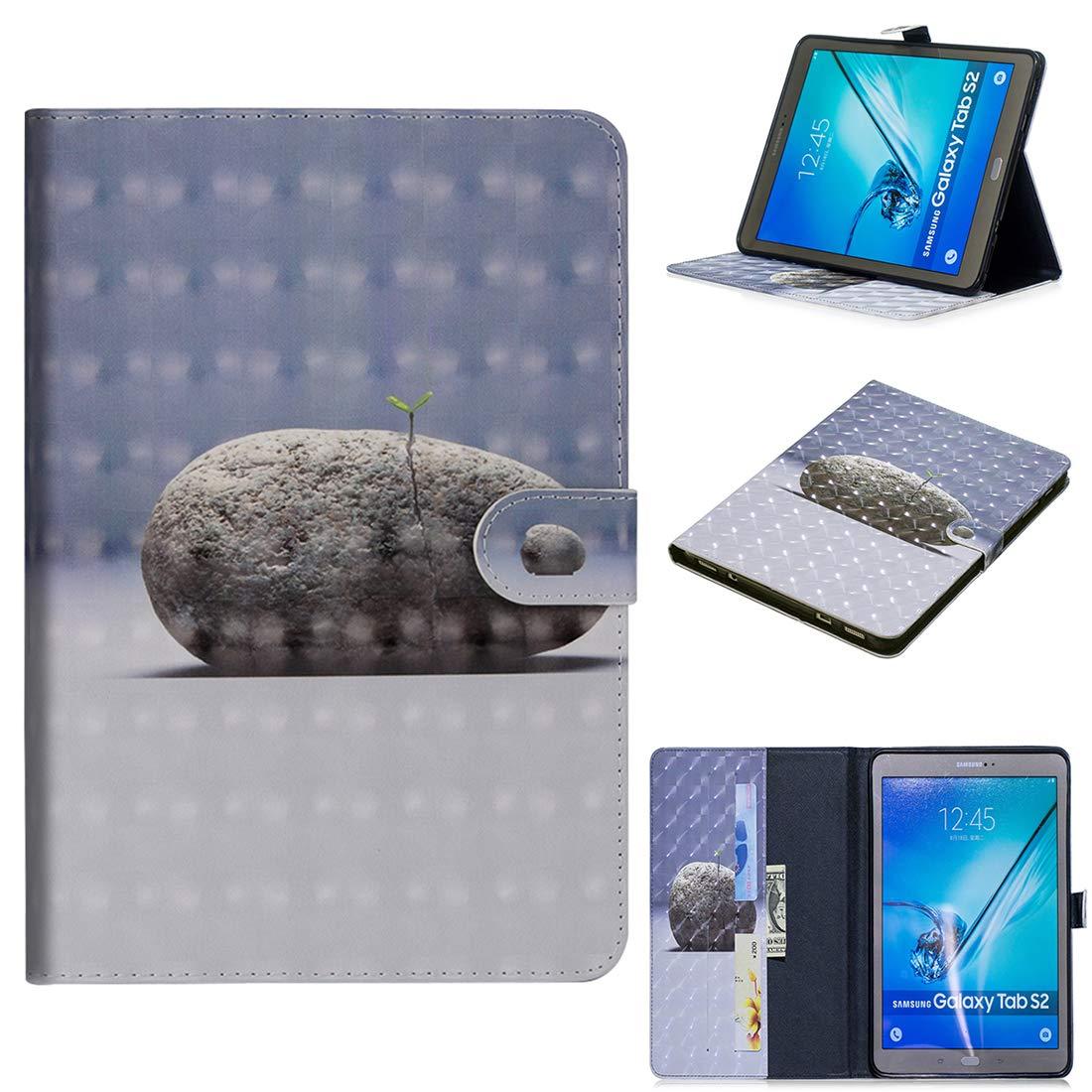 Lyzwn Galaxy Tab S2 9.7 inch (SM-T810 T815 T813) Étui Housse Coque Smart Case Cover Stand, Protection avec Support Multi Angles de Fonction Intelligente Veille/Réveil Automatique
