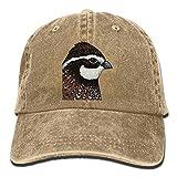 bobwhite Quail Trend Printing Cowboy Hat Fashion Baseball Cap For Men and Women Natural