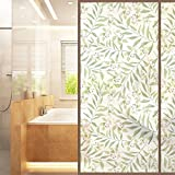 AmazingWall Nordic Style Window Film Glass Decorative Living Room Bathroom Kitchen Meeting Room Frosted Decal 22.8x70.9''