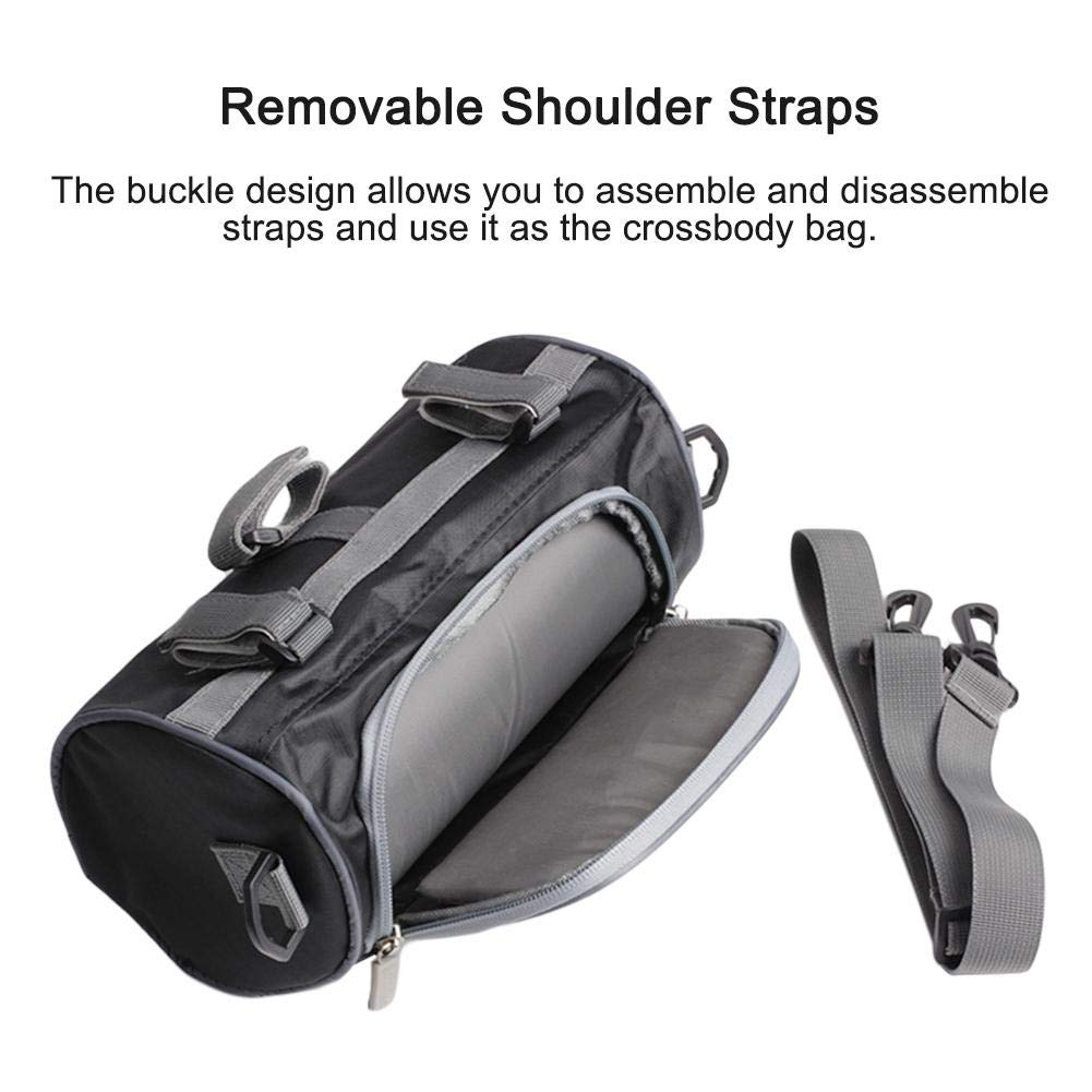 Kapokilly Motorcycle Handlebar Bag,Motorcycle Head Storage Bag Waterproof Storage Bag Mobile Phone Built-in Touch Screen Storage Bag Motorcycle Windshield Bag Handlebar Fork Sissy Bar Tool Pouch