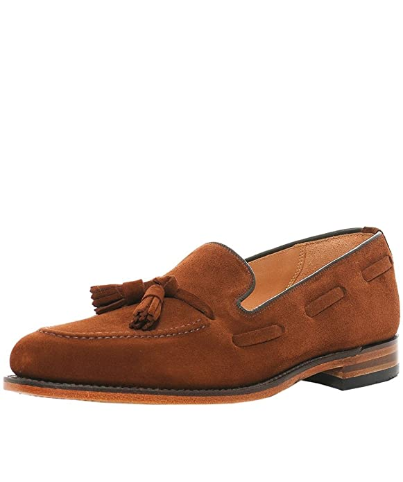 Amazon.com | Loake Mens Polo Suede Lincoln Loafers Brown | Loafers & Slip-Ons