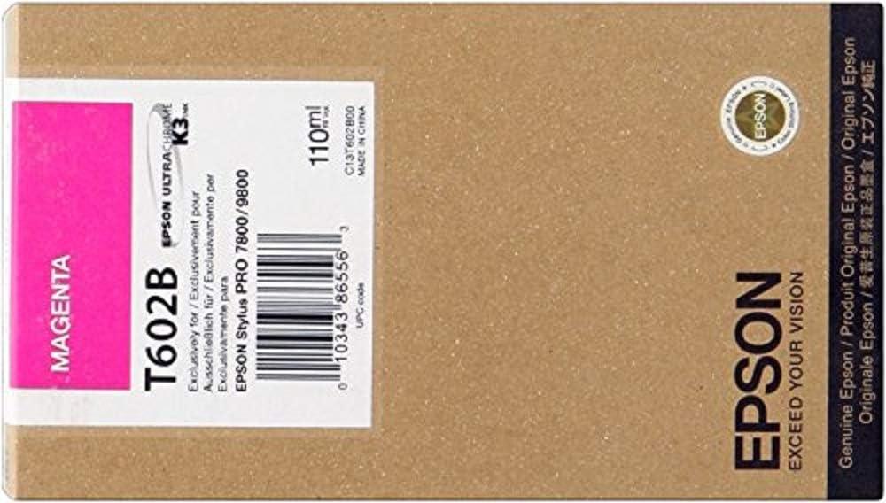 Epson T602b Tintenpatrone Singlepack Magenta Bürobedarf Schreibwaren