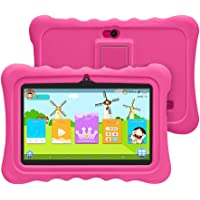 YUNTAB Tablet para Niños 7 Pulgadas Android,CPU Quad-Core 1.5GHz,1 GB RAM + 8 GB ROM,iWawa Educativos Software,Google Play y Control Parental,WiFi,Bluetooth(Rosa)