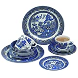 Churchill Dinner Sets (20 Piece Set, Blue Willow)