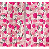 Hello Kitty Fawn Curtains Pair - 66 Inches Wide By 54 Inch Drop