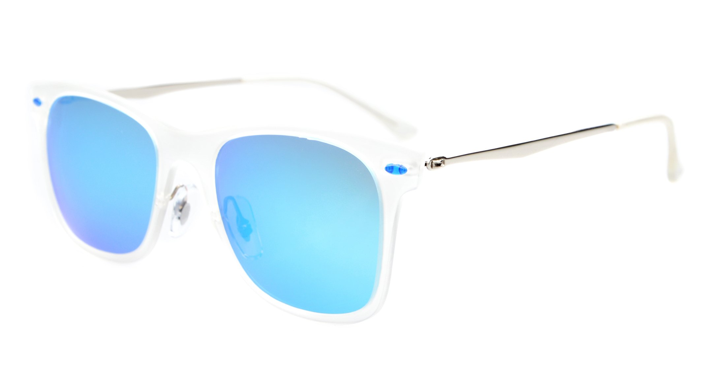 Eyekepper Flash Revo Mirror Lens Polarized Sunglasses Titanium Temple TR-90 Frame Blue Mirror