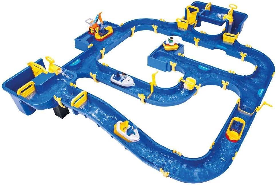 BIG Waterplay Amsterdam - Pistas para vehículos de Juguete (Azul, Amarillo, De plástico, Cualquier género, Alemania, Caja)