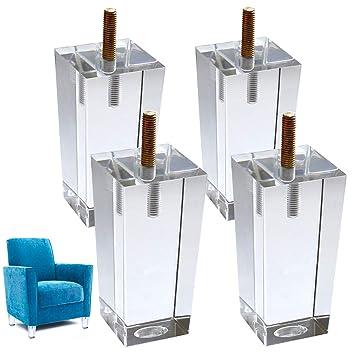 4 x Patas de cristal de repuesto para sofá cama elevador de ...