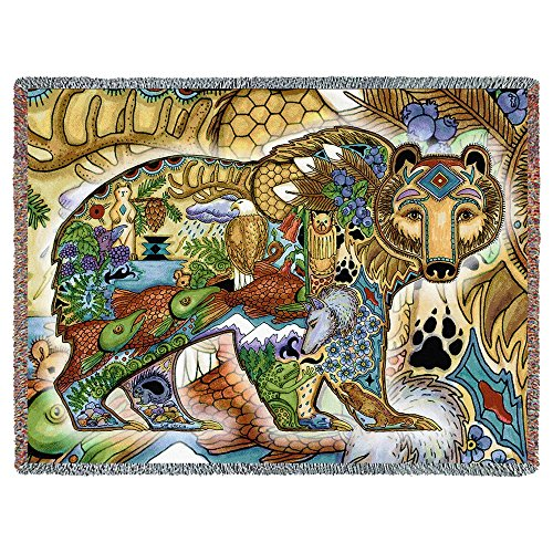 Pure Country Inc. Grizzly Bear Tapestry Throw - Pure Country Cotton Tapestry