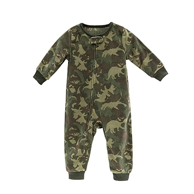 eee2989c0265 Amazon.com  Baby Boy Girl Polar Fleece Romper Warm Bodysuit Zip Up ...