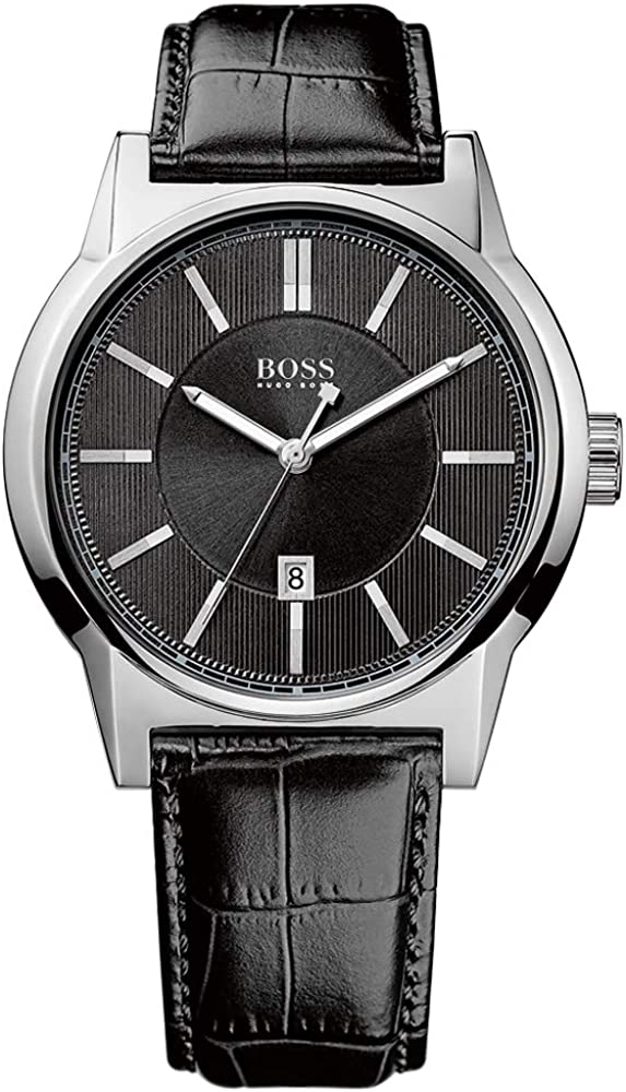 Hugo Boss Reloj Analógico para Hombre de Cuarzo con Correa en Cuero 1512911