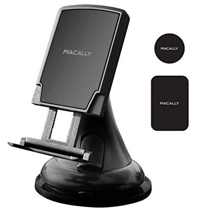 Macally Universal Car Windshield /& most other Smartphones. MGRIP2MP SE Samsung Galaxy S8 S7 Edge S6 Edge Note 5 7 7 Plus 6s 6 Dashboard Suction Cup Phone Mount Holder for iPhone X 8 8