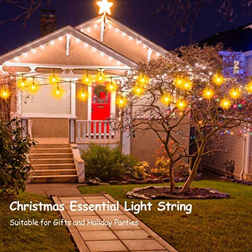 54FT LED Outdoor Patio String Lights with Dimmer Remote Control, 17 Shatterproof Bulbs, 5 Brightness, IP65 Waterproof lighting fixtures for Cafe, Party, Porch
