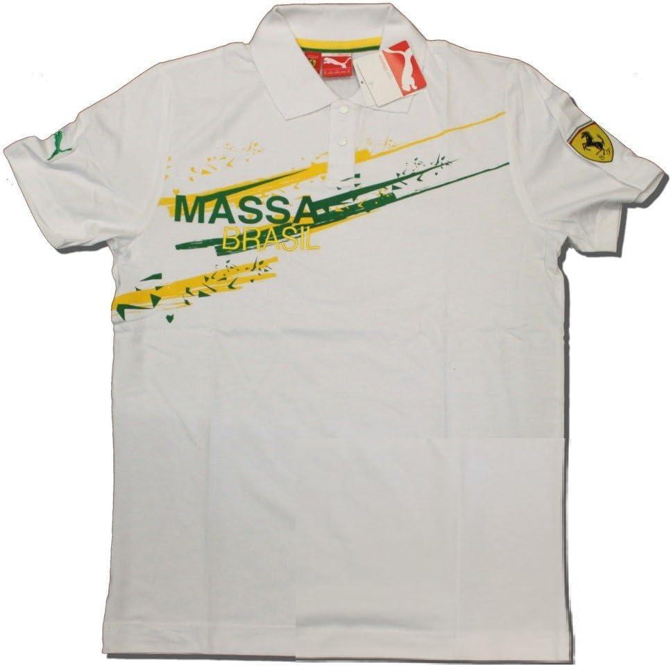 Ferrari F1 equipo Felipe Massa Puma Brasil Blanco – Polo de manga ...