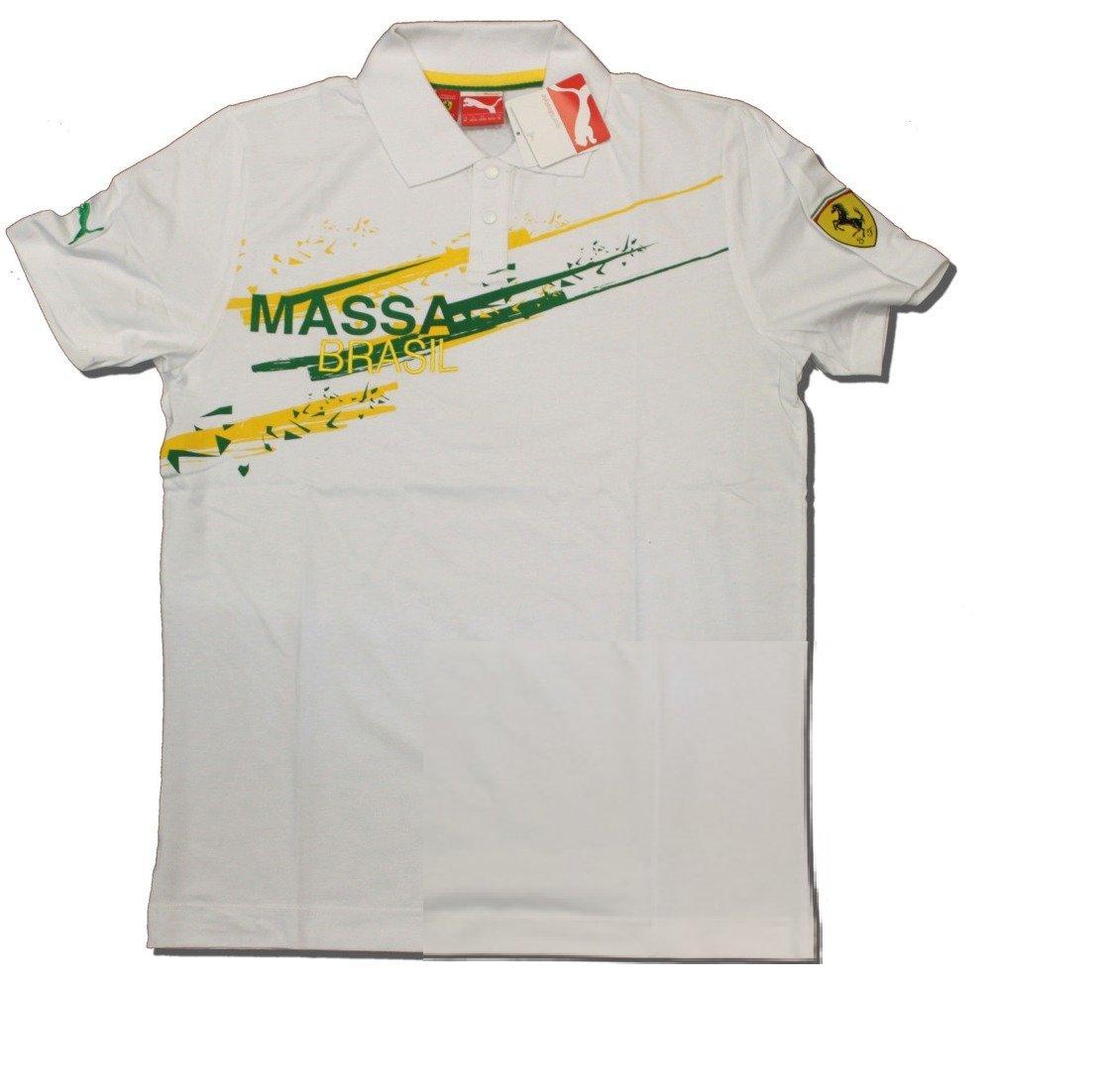Ferrari F1 equipo Felipe Massa Puma Brasil Blanco - Polo de manga ...