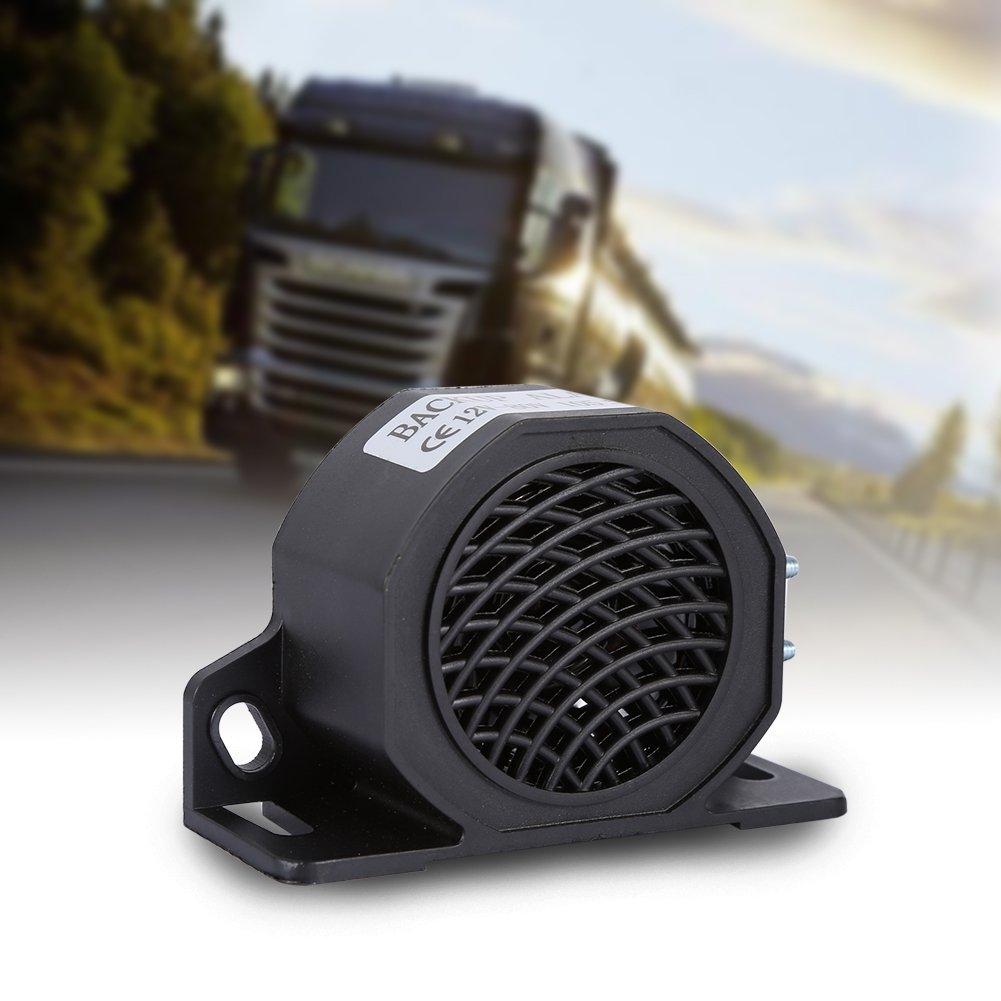 12-80V 15W 105 DB Universal Backup Reverse Beeper Warning Alarm Car Truck Vehicle Alarming Horn Black