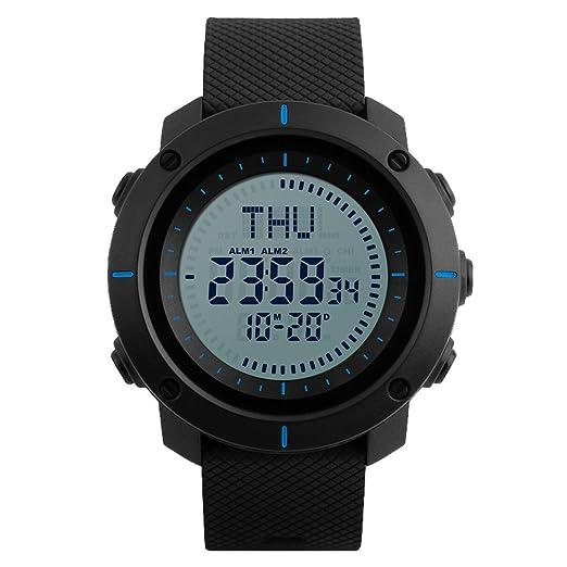 Auspicious beginning Unisex Digital Brújula reloj deportivo: Amazon.es: Relojes