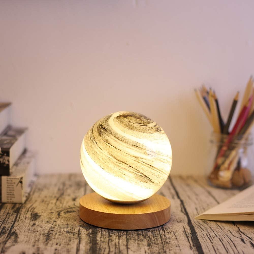 Moon lámpara de mesa LED lámpara lunar dormitorio estrella lámpara ...