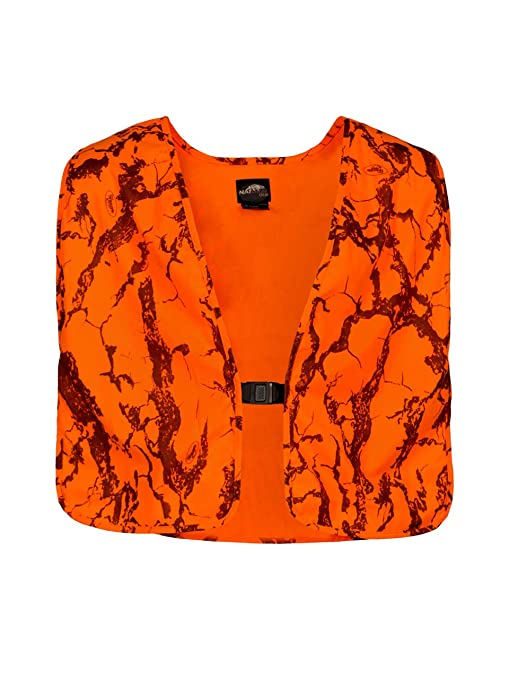 7d6fa776b2ec4 Natural Gear Blaze Camo Orange Safety Vest with Velcro Closure, Lightweight Hunting  Vest for Men, 100% Poly Tricot Material - Camouflage Hunting Apparel ...