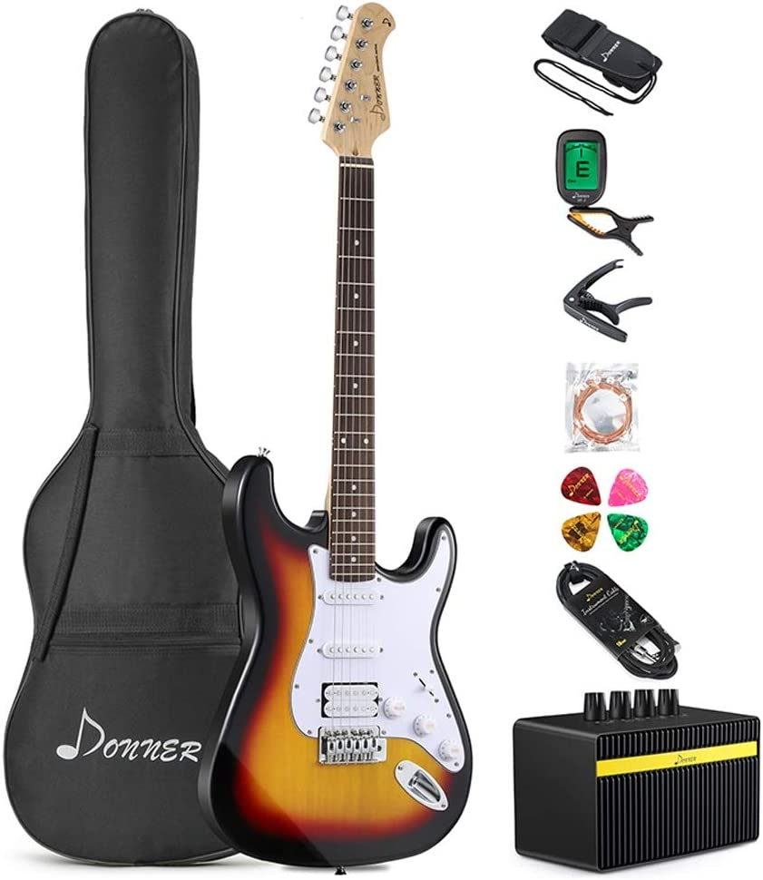 Miiliedy Tipo ST Guitarra Eléctrica Principiante Traje Avanzado ...