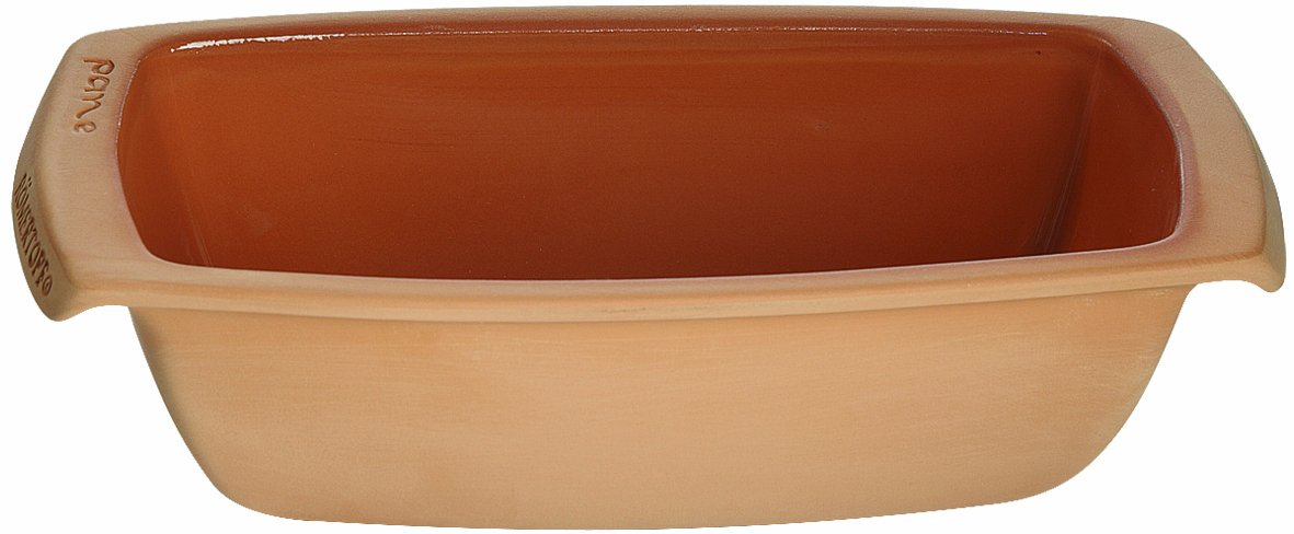 Romertopf by Reston Lloyd Natural Glazed Clay Rectangular Bread Loaf Pan
