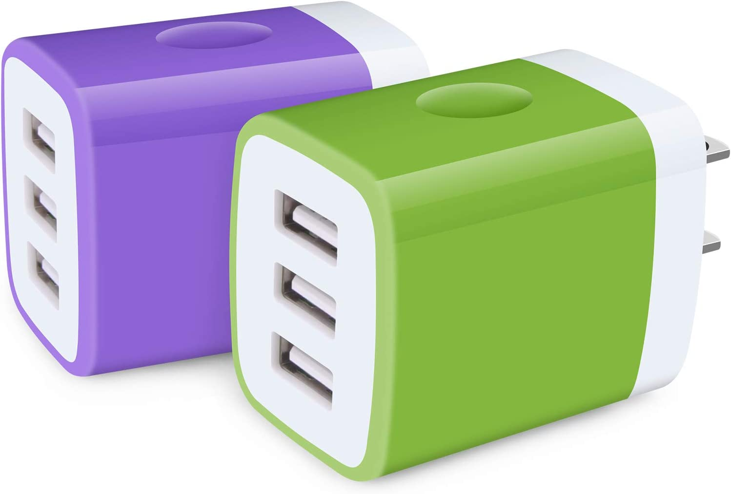 Charger Plug, 2Pack 3.1A Wall Charger Multi Port Power Adapter Fast Charging Block Plug Compatible with iPhone 12 Pro Max/11 Pro Max/SE/X/8/7/6 Plus,Samsung Galaxy Note 20 Ultra/10+/9 S20 S21 Ultra 5G