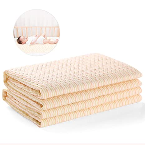2 Pack Cotton Bamboo Fiber Breathable Waterproof Underpads Mattress Pad Sheet Protector for Children 20 X 28 inch