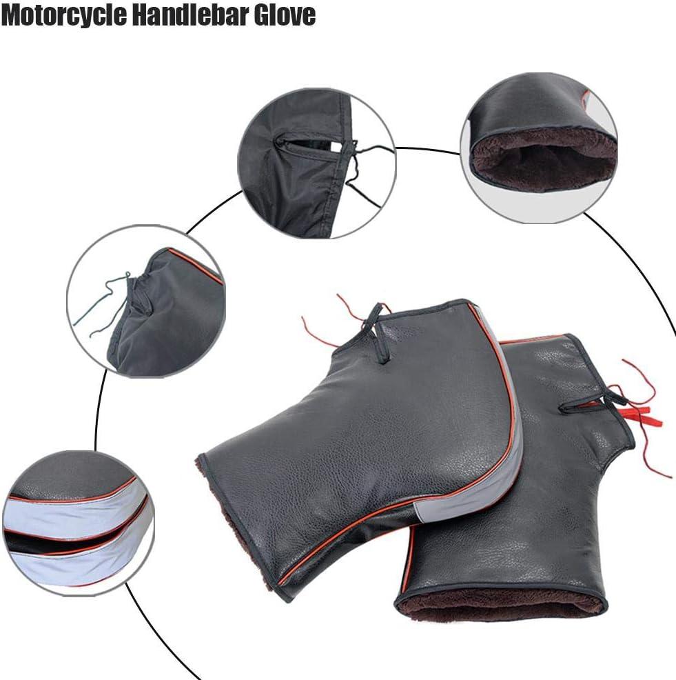 Durable Et Thermique Convient /À Moto Yestter Gants De Moto Hiver Scooter 1 Paire Manchons Scooter Gant Chaud De Protection Coupe-Vent Install/é sur Poign/ée avec Les Scratchs