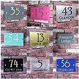 House Sign Solutions MODERN HOUSE SIGN DOOR NUMBER ADDRESS PLAQUE STRET PROPERTY PLATE