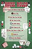 Poker House Rules Novelty Card Game Humor Poster Print 24x36